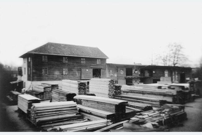 Stockerau (Avstrija) skladiščenje lesa 1950