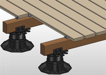 Beispiel für unsichtbare Befestigung auf Holz mit Profix
