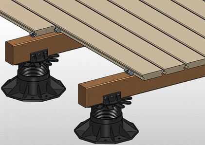 Example of invisible mounting on wood with Profix