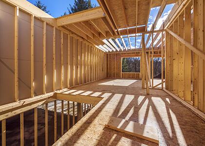 Применение ОСП в каркасном домостроении