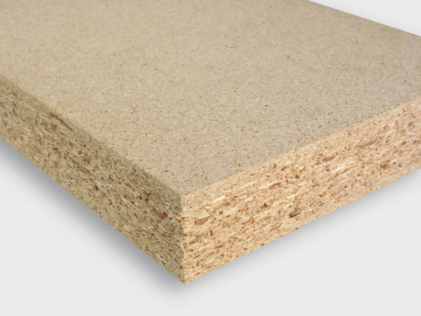 Raw chipboard panel