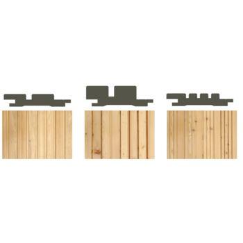 profilholz 3d 3n sibirische l rche naturbelassen st rke. Black Bedroom Furniture Sets. Home Design Ideas