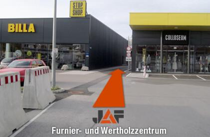 Wertholz- und Furnierzentrum Stockerau, Anfahrt