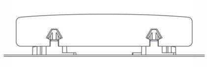 Secțiune transversală – Profil de terasă și prindere