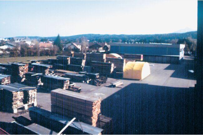 Stockerau (Avstrija) skladiščenje lesa v 60-tih letih
