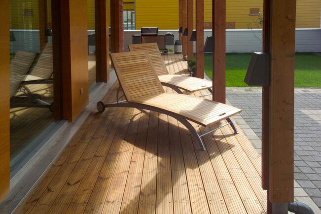 Projekt: Einfamilienhaus / Produkt: Thermo-Kiefer