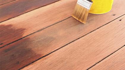 Schutz für das Terrassenholz
