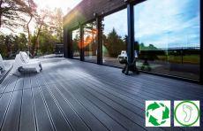 UPM ProFi verwandelt europäische Kunststoffabfälle in langlebige Terrassendielen aus WPC.