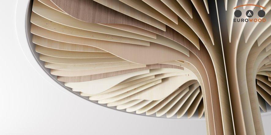 """Ob klassisch, modern oder rustikal – das """"Eurowood Furnierte Platte-Sortiment"""" bildet die Vielfalt des Holzes ab."""